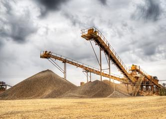 paisaje industrial de una mina