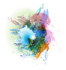 Abstract multi-colored art splash vector