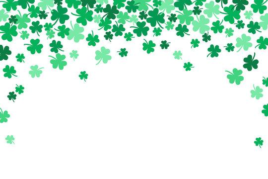 Saint Patricks Day Falling Shamrocks Vector Background 1