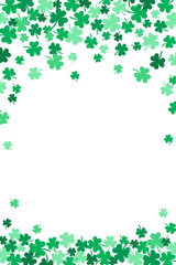 Saint Patricks Day Falling Shamrocks Vertical Vector Background 1