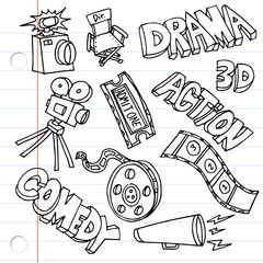 Notebook Paper Entertainment Drawings