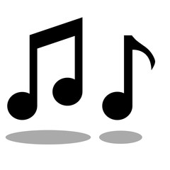 music note vector icon illustration