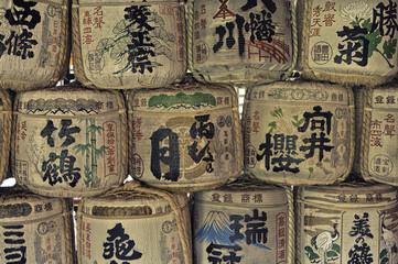 Painted Japan casks