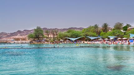 Beach on Red Sea, Eilat, Israel