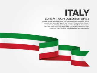 Italy flag background Fotomurales