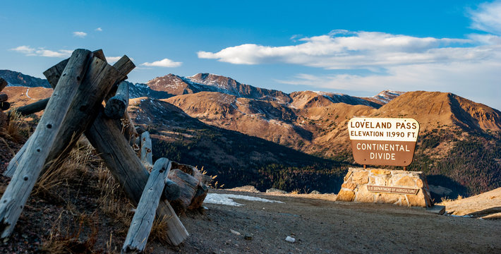 Loveland Pass, the Continental Divide in Colorado