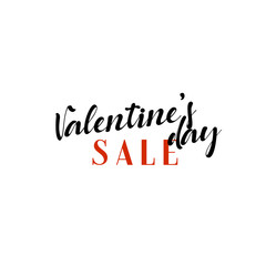 Sale Valentines Day. Phrase for design of brochures, posters, banners, web. Vector illustration.