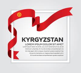 Kyrgyzstan flag background