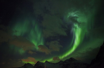 Northern Lights in Lofoten islands, Norway