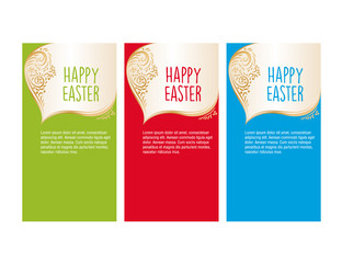 Banner templates. Happy Easter! Set of perfect vector card templates