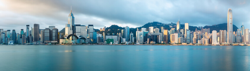 Hong Kong skyline in the morning over Victoria Harbour, Hong Kong China Fotomurales