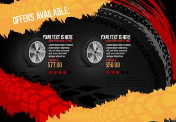 Automotive Tire Poster