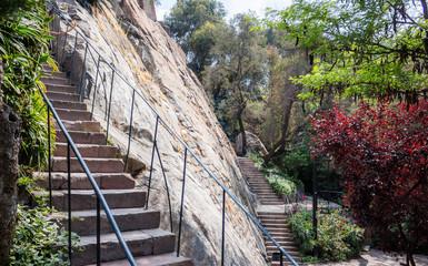 Cerro Santa Lucia park in Santiago, Chile