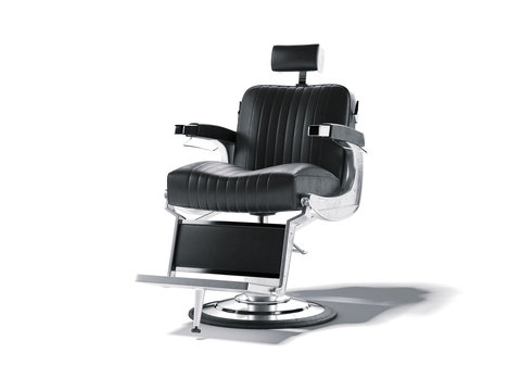 Barbershop chair isolated on white. 3d rendering