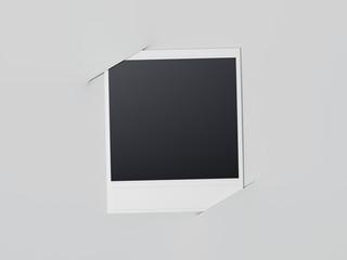 Blank photo. 3d rendering