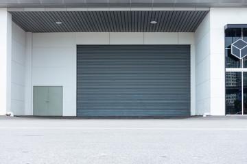 Roller shutter door and gate of warehouse materials storage