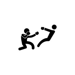 boxer knockdown icon. Elements of fighting icon. Premium quality graphic design icon. Simple single combat icon for websites, web design, mobile app, info graphics