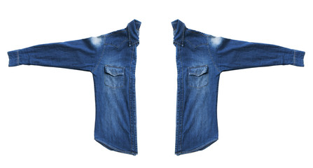 Close up denim jeans shirts