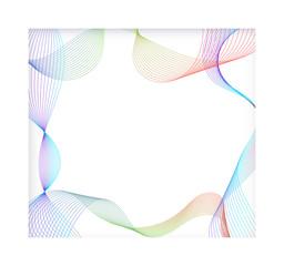 Fluid frame line design. Modern line transform. vector illustration.