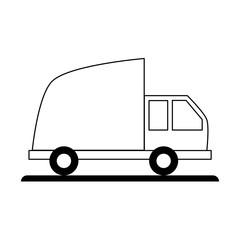 Cargo truck vehicle icon vector illustration graphic design