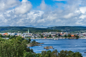 Norway, Kristiansand cityscape