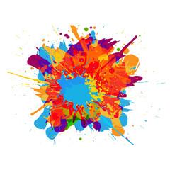 abstract vector splatter color background. illustration vector design