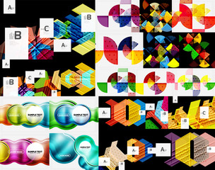 Mega collection of geometric abstract templates - backgrounds
