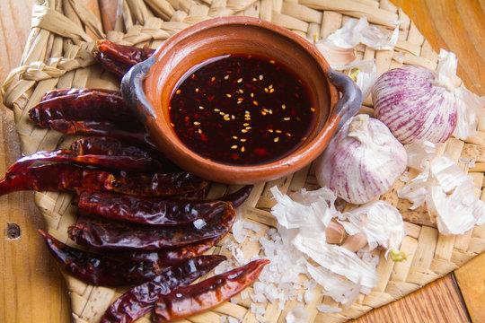 Mexican sauce macha