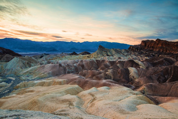 Recess Fitting Panorama Photos Death Valley le matin
