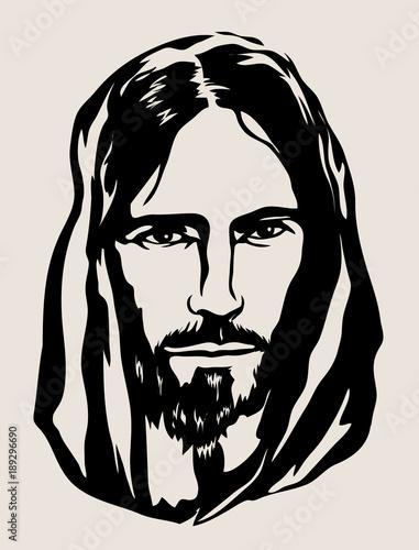 e4dcbf32d2c58 Jesus Face Silhouette, art vector design