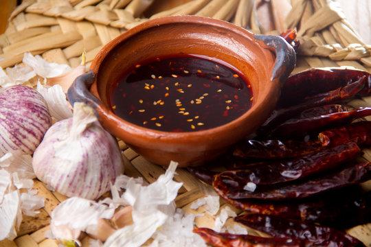 Mexican macha sauce