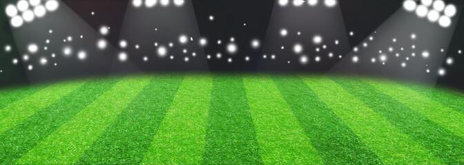 Soccer Football Stadium With Lights