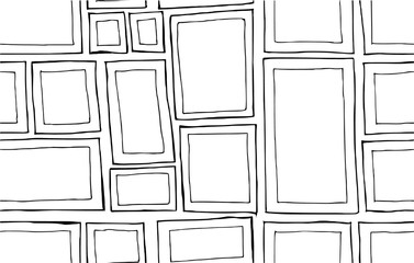 Vector Background Seamless pattern with hand drawn Frame doodle eps10