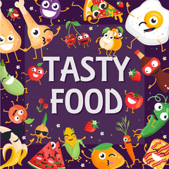 Tasty food - modern colorful vector illustration