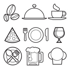 Food Icons Set. Vector illustration