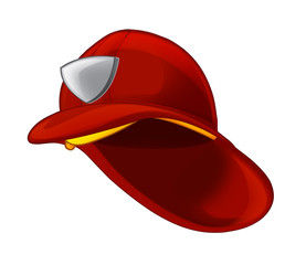 cartoon fireman hat - illustration for children