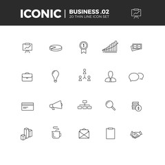 Business Iconic Icon Set 2