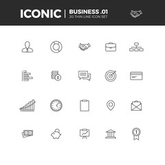 Business Iconic Icon Set 1