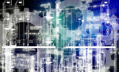 construction industrial engineering technology background