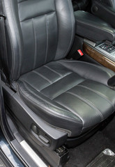 passager leather sit on luxury sport car