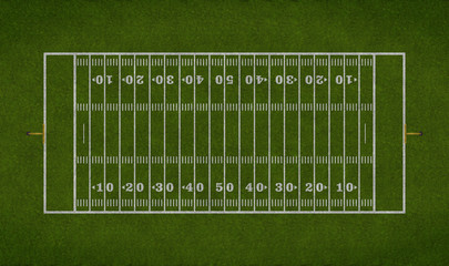 Overhead View Of American Football Field
