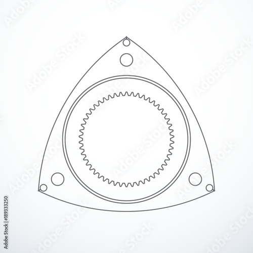 Rotor Of Rotary Wankel Engine Vector Illustration Stock Image And