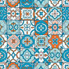 Photo sur Toile Tuiles Marocaines Spanish tiles pattern