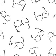 Sunglass seamless pattern background. Business flat vector illustration. Eyewear sign symbol pattern.