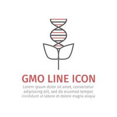 GMO line icon. Vector sign.
