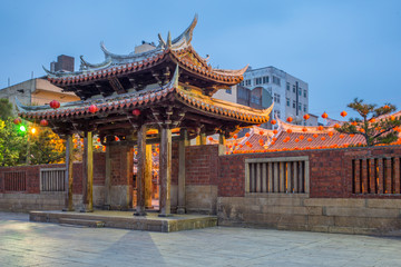 night view of Lung shan temple in Lukang
