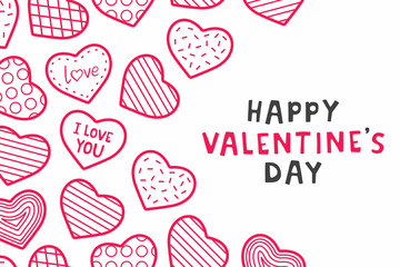 Happy Valentine's day. background with hearts