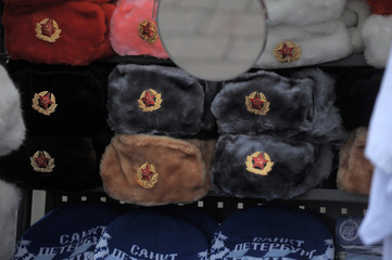 Russian fur soup fur hats