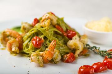 Italian home made pasta with sea food