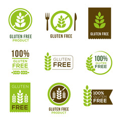 Gluten Free Icons - Badges